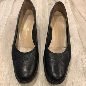 Ferragamo Wedges Leather 8.5